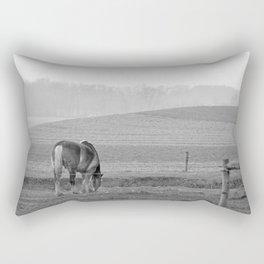 Draft Horse in the Field Rectangular Pillow
