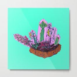 Crystal Terrarium Metal Print