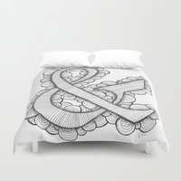 ampersand Duvet Covers featuring Ampersand by Laura Maxwell