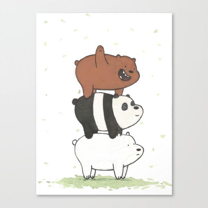 We Bare Bears by Maria Piedra Leinwanddruck