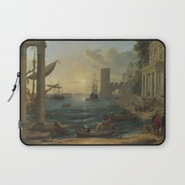 Seaport with the Embarkation of the Queen of Sheba by Claude Laptop Sleeve