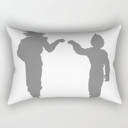 DBZ Goku Vegeta Shadows Rectangular Pillow