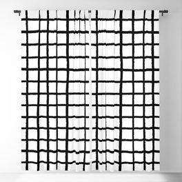 Ink Checks Black/White Palette Blackout Curtain