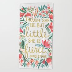 Little & Fierce Beach Towel