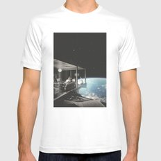The view White Mens Fitted Tee MEDIUM