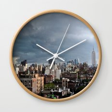 Taking The City By Storm Wall Clock
