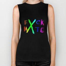 FXCK HXTE - Rainbow Paint 1 Biker Tank