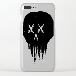 Trickle Skull Clear iPhone Case