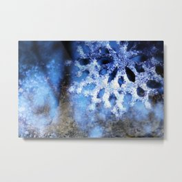 snowflake in blue 8 Metal Print
