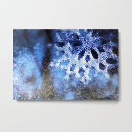 snowflake in blue 8 Metal Print