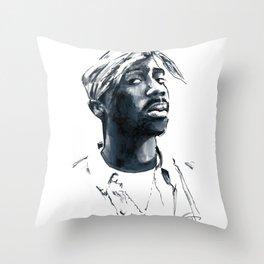2 pac Throw Pillow