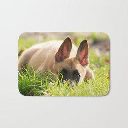 I'm not a fox but a Malinois puppy Bath Mat