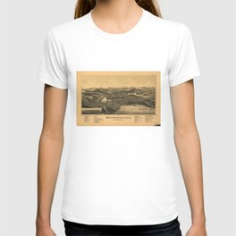 Aerial View of Wolfeborough, New Hampshire (1889) T-shirt