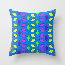 Rhombus Pattern Throw Pillow