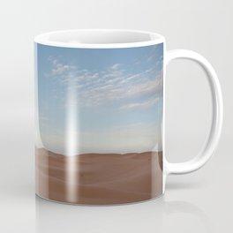 Desert Oasis - Sunrise with Moon over the Sahara, Morocco Coffee Mug
