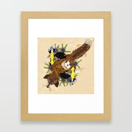Fox and the Cradle Framed Art Print