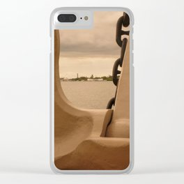 Pearl Harbor Memorial Anchor Clear iPhone Case