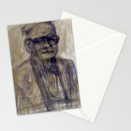 The Man With the Look - the Portrait II Stationery Cards