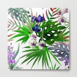 Tropical Watercolor Pattern Var. 4 Metal Print