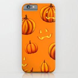 Halloween Pumpkin Jack-O-Lanterns Bright Pattern iPhone Case