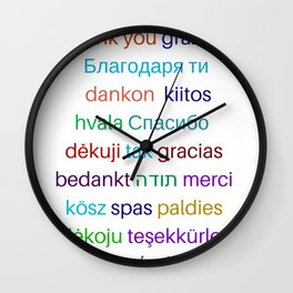 Thank you in different languages Wall Clock