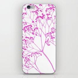 Elegant, boho floral drawing. iPhone Skin