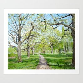 may in green, original oil painting Art Print