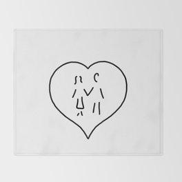 huglovers married couple wedding Throw Blanket