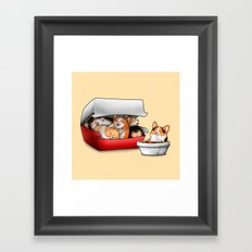 Corgi Nuggets Framed Art Print