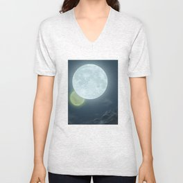 Two Moons Unisex V-Neck