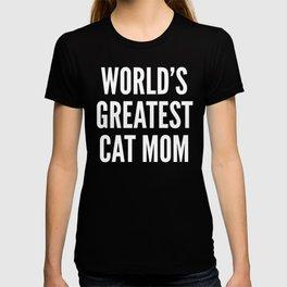 WORLD'S GREATEST CAT MOM (Black & White) T-shirt