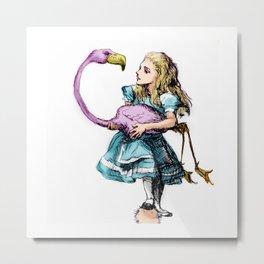 Alice Plays Croquet Metal Print