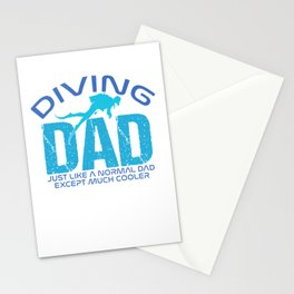 Diving Dad Just Like A Normal Dad Except Much Cooler pb Stationery Cards