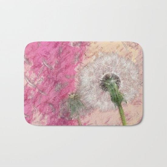 Dandelion - pastel fantasy Bath Mat