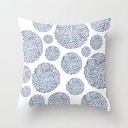 Grey Round Gem Pattern Throw Pillow
