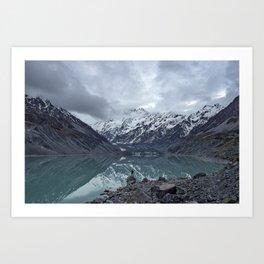 snow capped Art Print