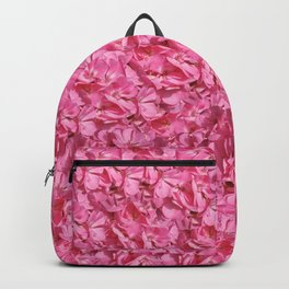 Pink Flowers Pattern Backpack