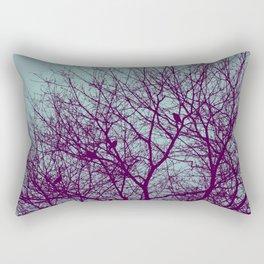 1000 Words on Twilight and Aubergine Rectangular Pillow
