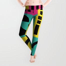 Neo Memphis Pattern 2 - Abstract Geometric / 80s-90s Retro Leggings