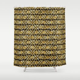 Sonoran Stripe - Midnight Gold Shower Curtain