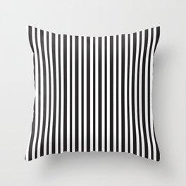 Vertical Black and White Stripes Throw Pillow