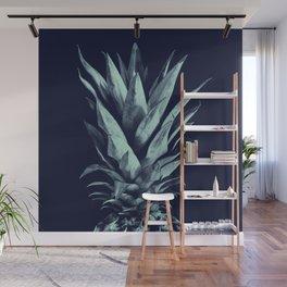 Navy Blue Pineapple Dream #1 #tropical #fruit #decor #art #society6 Wall Mural