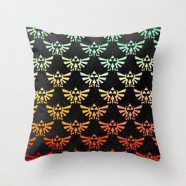 Zelda Hylian Crest Throw Pillow