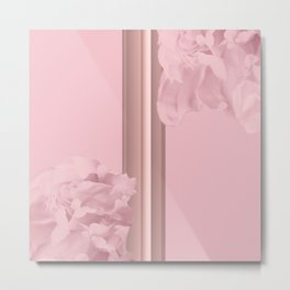 Rose Colored Peony Petals On Pink Gold No2 #decor #society6 #buyart Metal Print