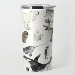 Arctic & Antarctic Animals Travel Mug