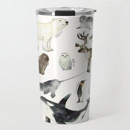 Arctic & Antarctic Animals Travel Mug