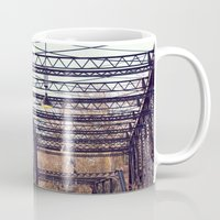 bridge Mugs featuring Bridge by myhideaway