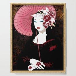 Mona Geisha Lisa Serving Tray
