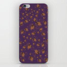 Adorable bats for Halloween (Purple) iPhone Skin