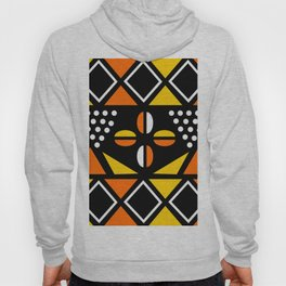 African Geometric Fabric Design Hoody